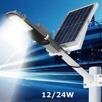 12W 24W Wasserdicht COB LED Solarlampe Straßenleuchte Hofbeleuchtung Mastleuchte