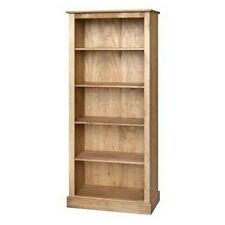 BALMORAL TALL  BOOKCASE 5 SHELF-SOLID PINE-COUNTRY FARMHOUSE- LIVING ROOM