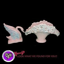 "Royal Haeger Vintage 'Swan Flower Fan Vase' Set of 2 29"" TALL"