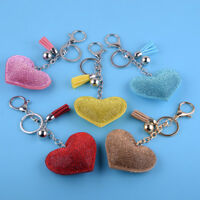 Rhinestone Crystal Love Heart Keyring Keychain Pendant Purse Bag Key Ring Chain