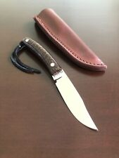 David Manley Custom Gentleman's Bowie Knife (Buffalo Horn / Leather Sheath) New!