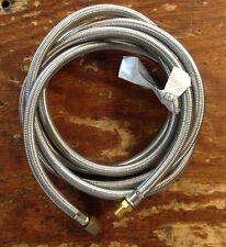 Propane, Natural Gas Flex Hose Stainless Braided 10 Foot 3/8 Flare x 1/4 Pipe