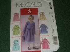 new uncut pattern sew McCall's 6 looks dress # m 4701 size girl's 6  7 8 free sh