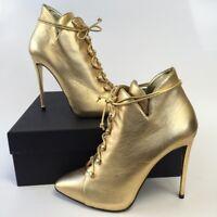 New in box GIUSEPPE ZANOTTI DESIGN Gold SwarovskiBoots EU 41 Retail price 695€
