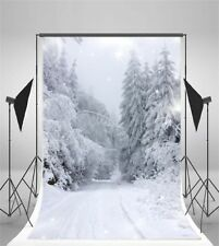 Winter 3x5ft Scenic Photography Background Snow Forest Baby Photo Backdrop Props