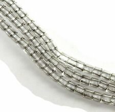 Silver Lined Crystal 6mm Square Glass Czech Two Hole Tile Bead 25 Beads
