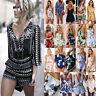 Womens Holiday Jumpsuit Playsuit Ladies Romper Tops Boho Summer Beach Dress