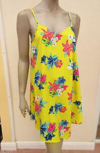 Papaya - Womens Bright Yellow / Multi Strappy Mini Sundress - size 12