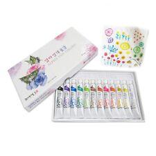 Non-Toxic Dye Textile Fabric Paint Tubes 12 Colors Set 7.5ml - Finest Dyes