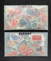 Norway Used Stamp Collection in Old Glassine Packets - 0.8 Ounce Lot