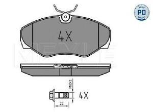 Original MEYLE Set of Brake Pads Disc Brake 025 230 9918/Pd for Nissan Vauxhall