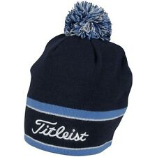 New Titleist Golf Winter Pom Pom Beanie Hat TH6WEAWHP-9 Navy Light Blue White