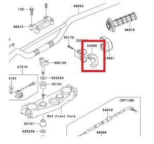 KAWASAKI KXF 250 KXF 450 2004 > 2021 GUSCIO COMANDO GAS ORIGINALE