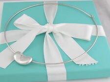 Auth Tiffany & Co Silver Bean Necklace Box Included