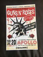 GUNS N ROSES; APOLLO THEATER NYC POSTER, Axl Rose, Slash, Duff McKagan