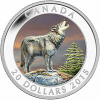 "2015 RCM ""THE WOLF"" $20 FINE SILVER COIN."