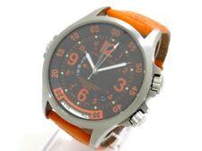 Auth HAMILTON Khaki Air Race H776650 Black Orange Silver Men's Wrist Watch