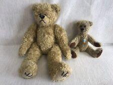 Two Vintage Handmade Jointed Teddy Bears: TY and Ramshackle Bears England