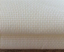 White 14 Count Aida Fabric 100%25 Cotton Cross Stitch  Various Sizes