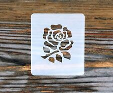 English Rugby Rose Face Painting Stencil 7 cm x 6 cm Washable reusable