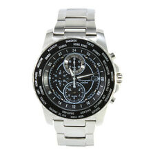 Seiko Criteria SNAC61 P1 Silver Black Dial Men's Chronograph Quartz Watch