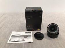 Panasonic LUMIX G 12mm F/1.4 DG Aspherical UED ASP ED Lens, 'Mint' Free Shipping