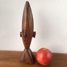 Vintage Retro MALE PRIEST BUST Tribal Hand Carved SCULPTURE Wood Wood Art #167