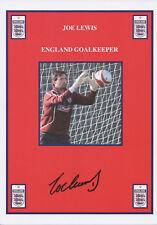 JOE LEWIS Signed 12x8 Print ABERDEEN FC & ENGLAND COA