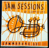 VARIOUS JAZZ jam sessions at commodore LP VG+ DL 30,006 Mono USA 1951