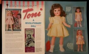 9p History Article + ID Pics -   Ideal's VTG TONI Doll & Outfits