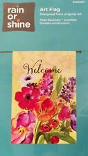 New listing Large Garden Flag, Colorful ,Impressionistic Flowers For Spring! Free Ship New!