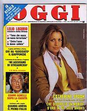 OGGI N. 7,1981–Alain Delon,Catherine Spaak,Rossella Falk, Robert De Niro,Giusva