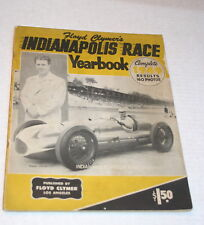 1949 CLYMER YEARBOOK INDY 500 INDIANAPOLIS 500 BILL HOLLAND DUKE NALON NOVI