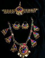 Afghan Kuchi tribal golden Necklace full set from Pakistan