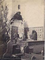 Algeria Moresco All'Interno Di il Cimitero Abderhaman Vintage Albumina Ca 1880