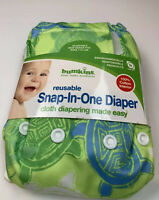 Bumkins Baby Cloth Diaper Snap All-in-one OS One Size 7-32 lbs Turtles NWT
