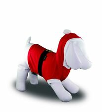 SANTA CHRISTMAS CLOTHES COSTUME SHIRT XSMALL TO XXX LARGE DOGS WITH HOOD