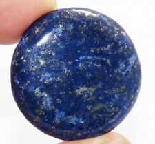 LARGE 14mm ROUND CABOCHON-CUT ROYAL-BLUE NATURAL CHINESE LAPIS LAZULI GEMSTONE