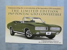 Danbury Mint Brochure 1969 Pontiac GTO Convertible LE
