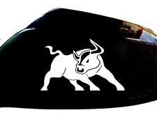 Bull Raton Car Sticker Wing Mirror Styling Decals (Set of 2), White