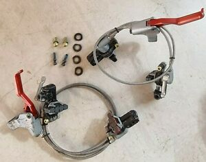 Magura 10th Anniversary Hs33 Race-line Hydraulic Rim brakes set red and silver