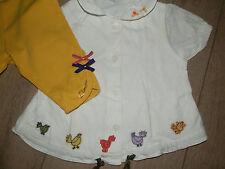 Catimini  6 mois legging chemisier/Tee-shirt TBE + lot Marèse