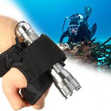 Adjustable Underwater Flashlight Hand Wrist Glove Diving Lamp Holder Light Torch