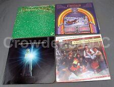 4 Christmas Vinyl Records Tradition Partridge Family Gatlin Familly Streisand LP