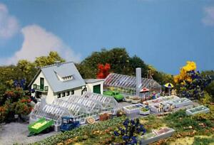 N scale Faller Farmhouse and Greenhouses building kit.