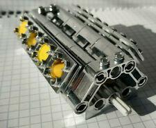 Lego Technic V8 Motor Set Zylinder chrom unikat Engine 2850