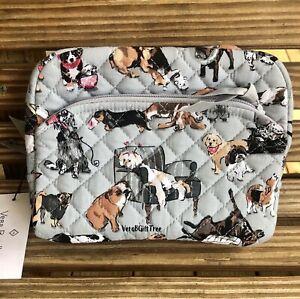 Vera Bradley Medium Cosmetic Case BEST IN SHOW Dogs Gray MakeUp Bag NWT EXACT
