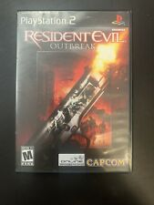 Resident Evil: Outbreak (Sony PlayStation 2, 2004) BLACK LABEL, COMPLETE!