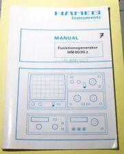 Manual de instrucciones Service Manual hameg generador de funciones hm8030-3