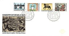 E144 First Day Cover Netherlands 1975 Kind (1079-1082)